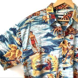 Robert Stock Hawaiian Aloha Tropical Cotton Shirt